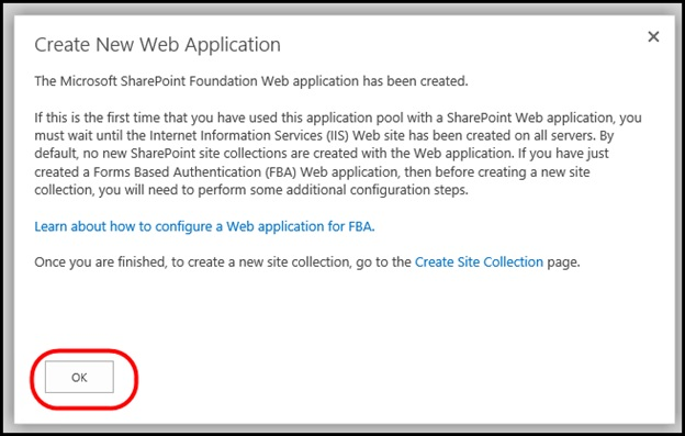 Create New Web Application