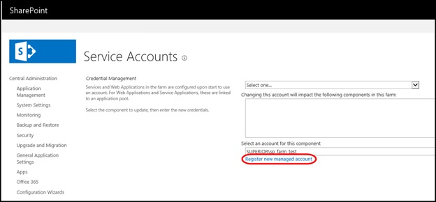 Register New Managed Account