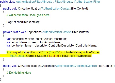AuthenticationActionFilterCodeSample