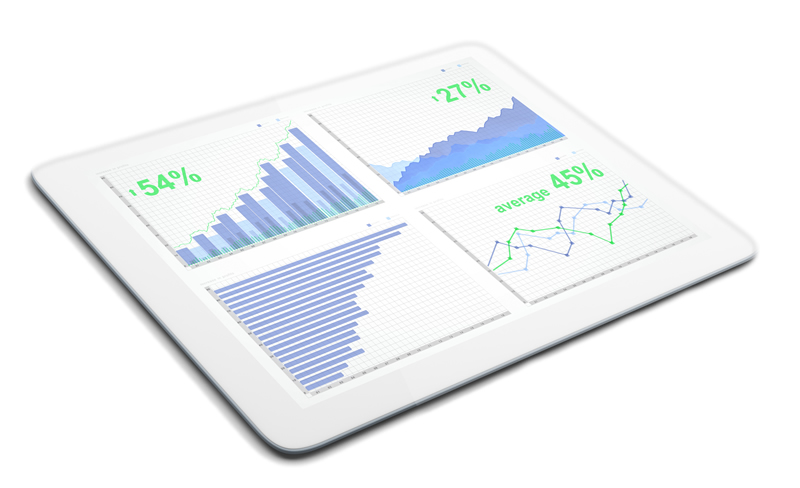 tablet with data