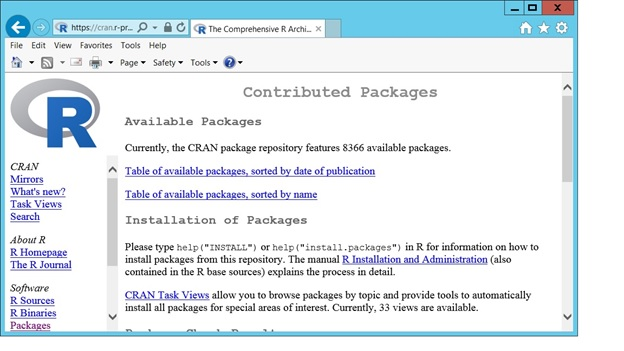 Contributed Available packages