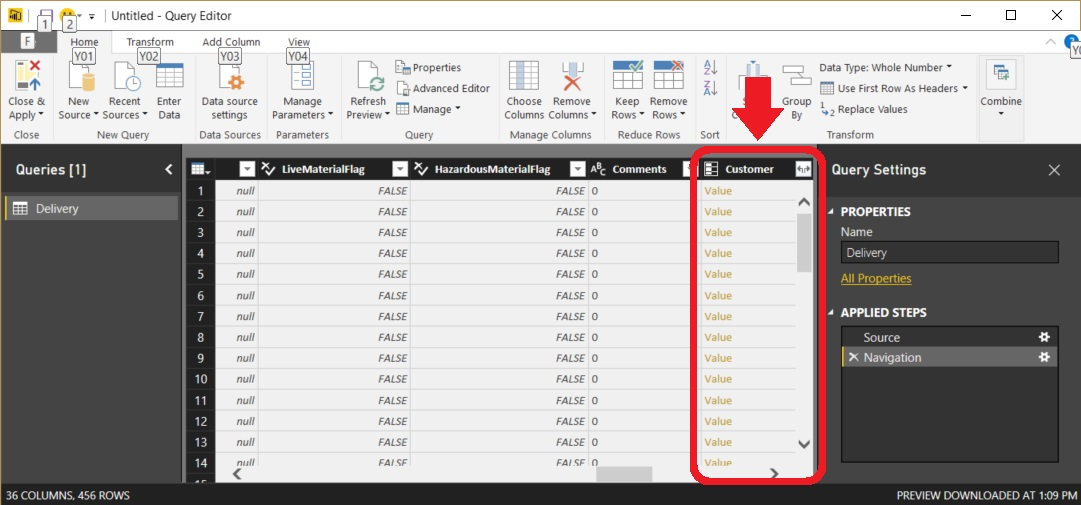 Power BI Value and Table Columns - Figure 02