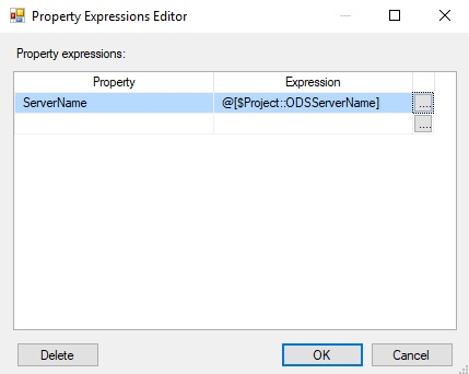 Connection Manager Expressions