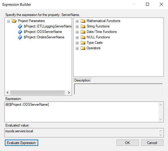 Connection String Expression Builder