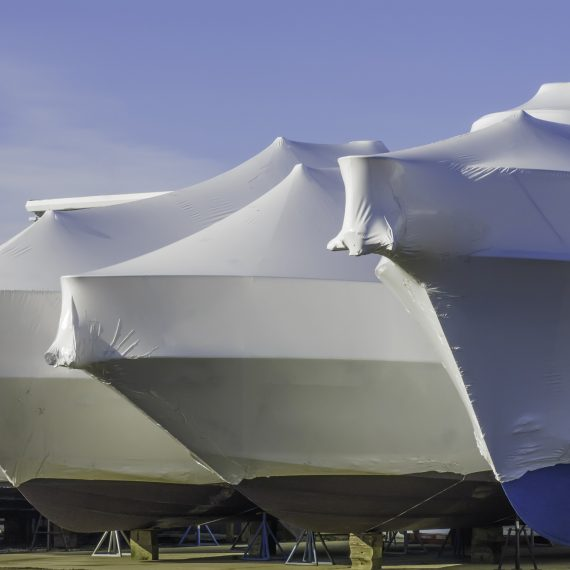 wrapped boats