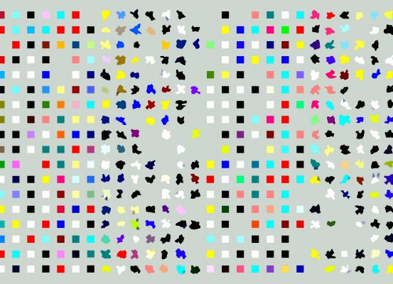squares and blotches